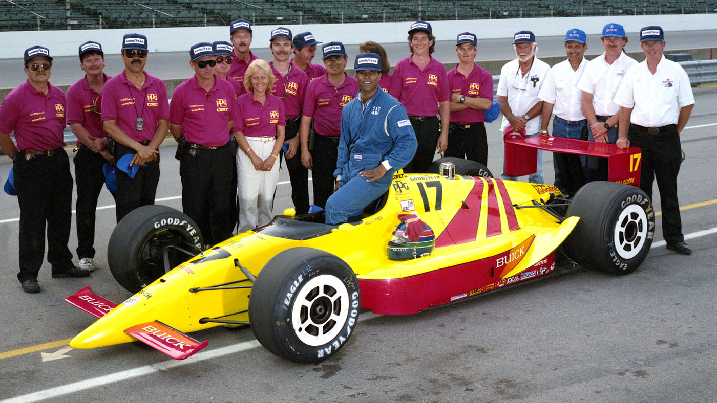 Ribbs and the proud Walker Motorsport team. (Image: IMS Photo)