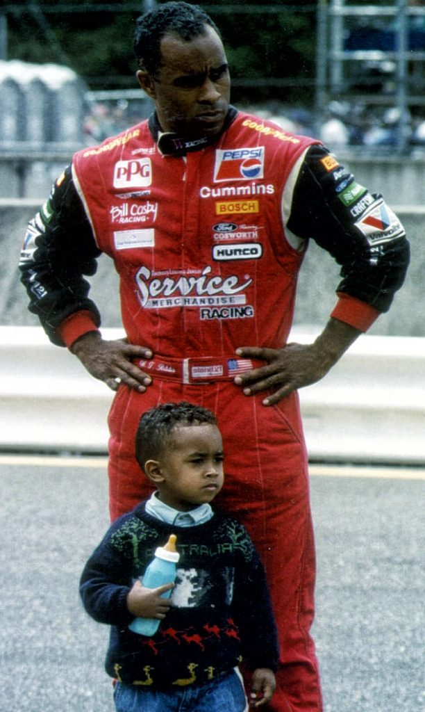 Ribbs with his son Theo, Portland 1994. (Image: Marshall Pruett)
