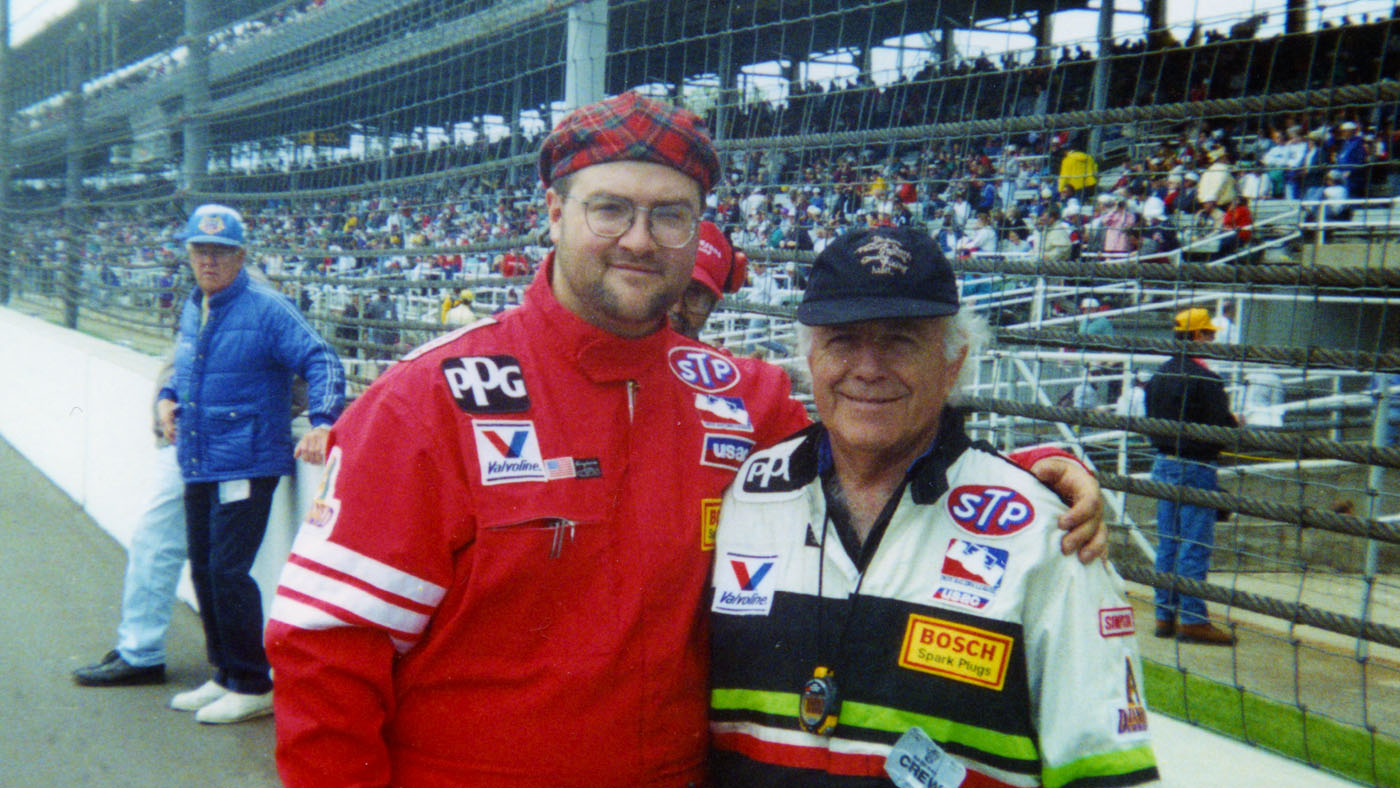 My first Indy 500 in 1997 with the great Angelo Ferro, owner of Genoa Racing.
