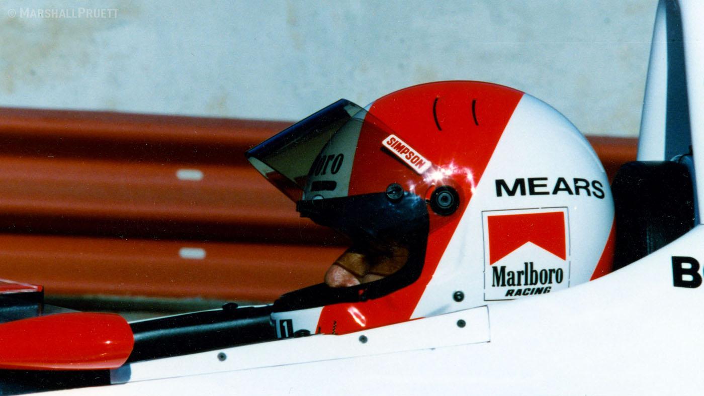 Mears prepares for the 1991 CART IndyCar season finale in Laguna Seca. (Image: Marshall Pruett)