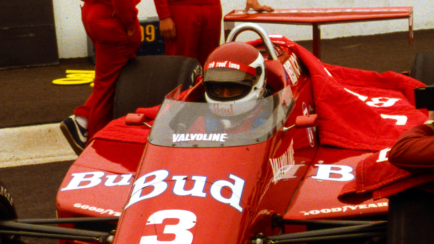 Bobby Rahal's 1985 March Indy car with the windscreen that prevented a driver's helmet from being shaken uncontrollably at over 200 mph. (Image: MP Archives)