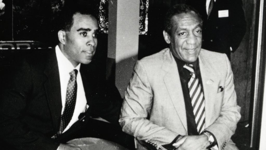 Ribbs and Cosby at the launch of the Raynor-Cosby IndyCar team. (Image: Press Kit)