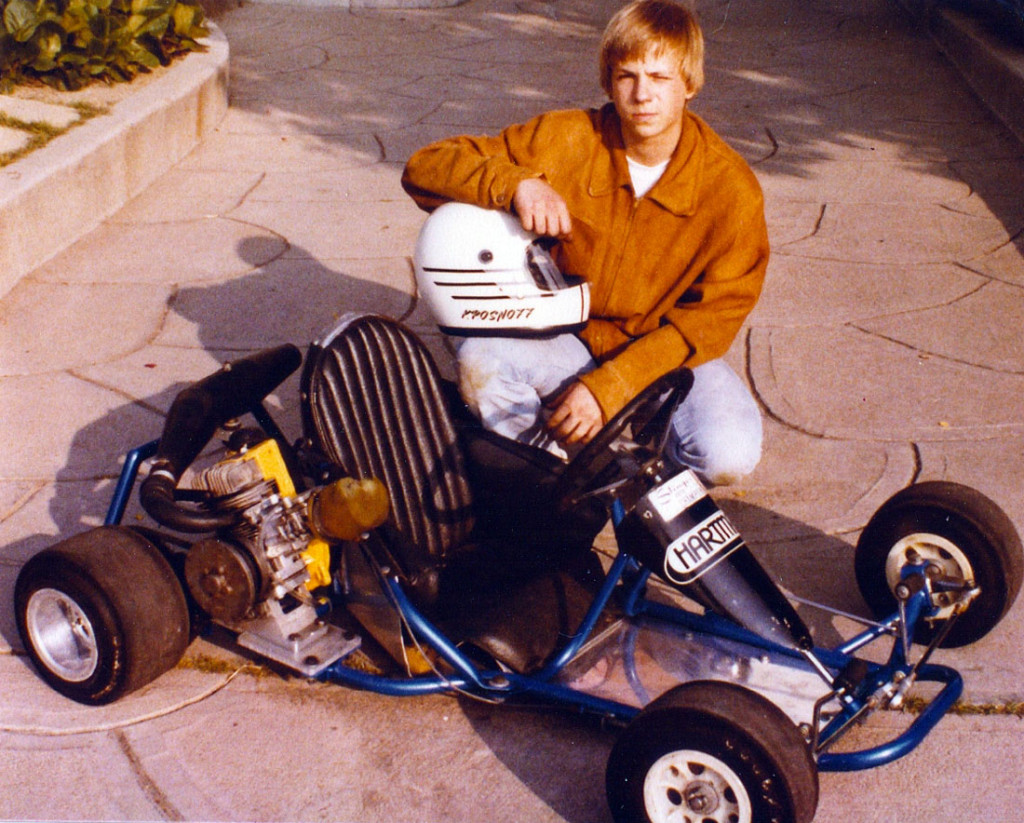 Krosnoff and his beloved kart. (Image: Courtesy of Karen Krosnoff Whisenant)