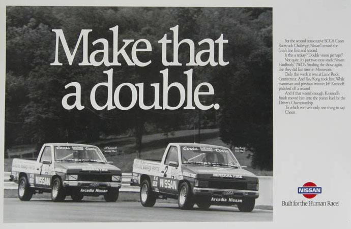 Jeff, left, in his Nissan Racetruck. Image: Nissan)