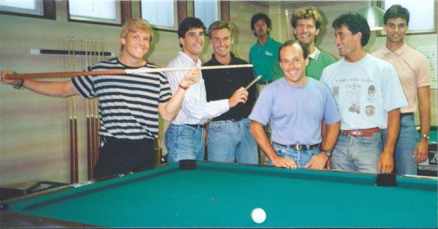 "Jeff, left, with the ""Gaijin Racers Club"" (Image: Krosnoff family)"