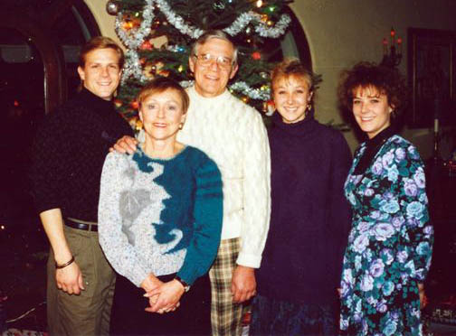 Jeff with his parents and sisters at Christmas. (Image: Krosnoff family)