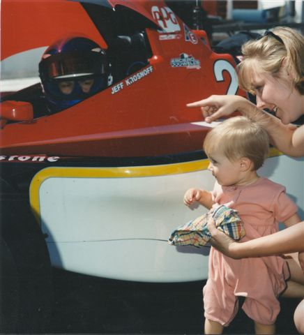 Jeff with his sister Tonya and niece on the gird in 1996. (Image: Krosnoff family)