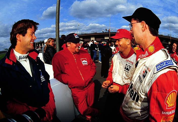 Robby Gordon, Paul Tracy, Jeff, and Bryan Herta in 1996. (Image: LAT Photographic)