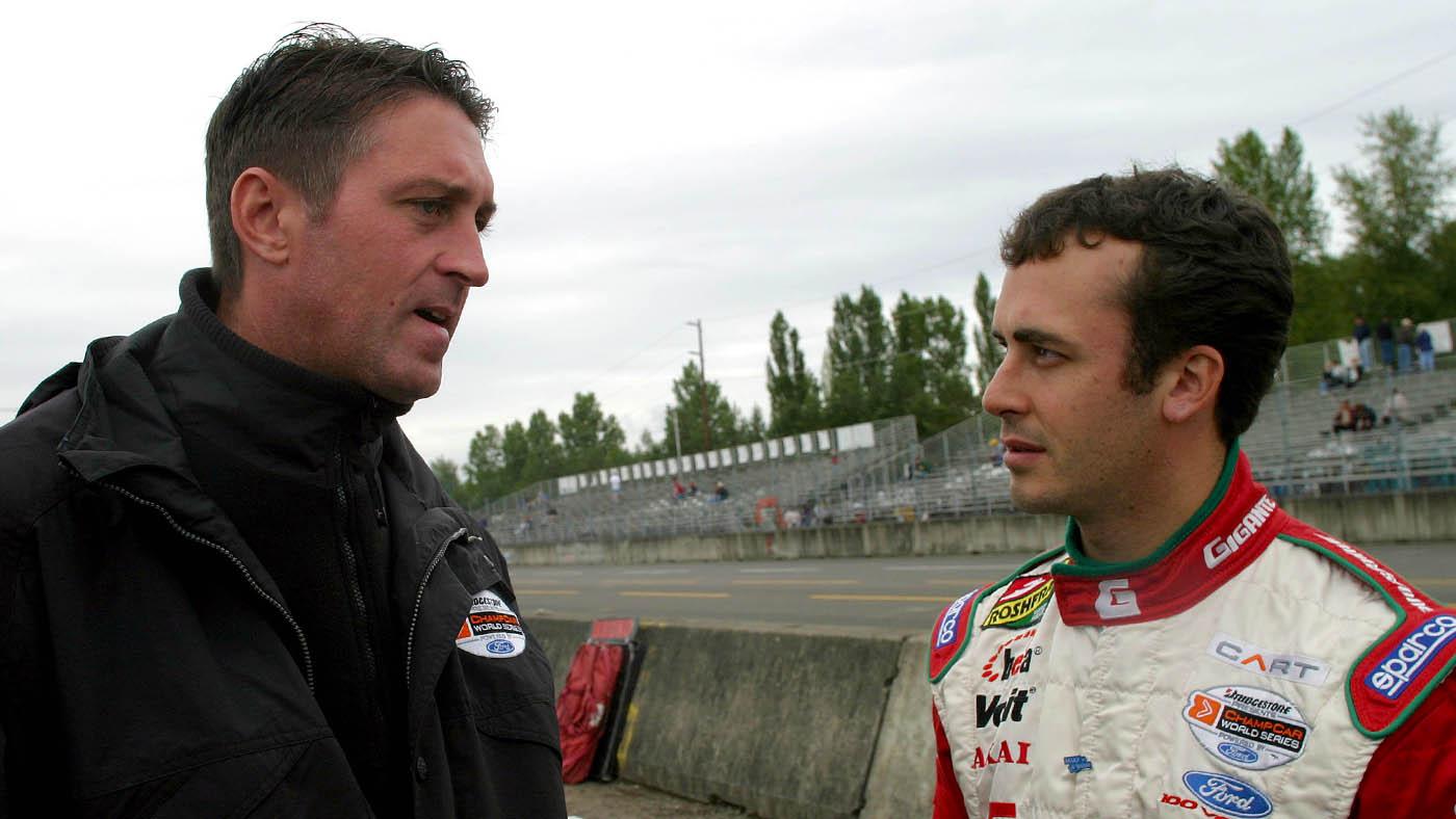 2003 Portland Champ Car, 22 June, 2003, Portland, Oregon, USA Chris Kneifel and Michel Jourdain ©2003, Michael L. Levitt, USA LAT Photographic
