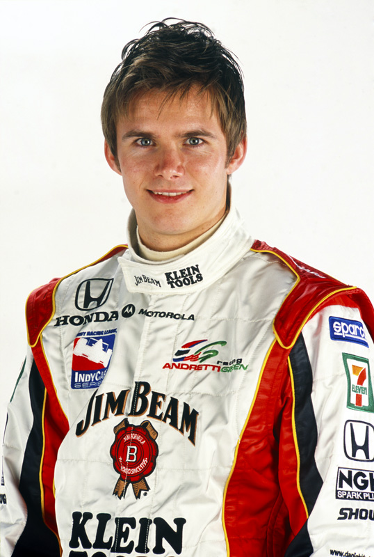 California Speedway, Fontana, CA, USA. 3rd - 4th February 2003. Dan Wheldon, portrait. World Copyright: P. Abbott/LAT Photographic. Ref: Colour Transparency.