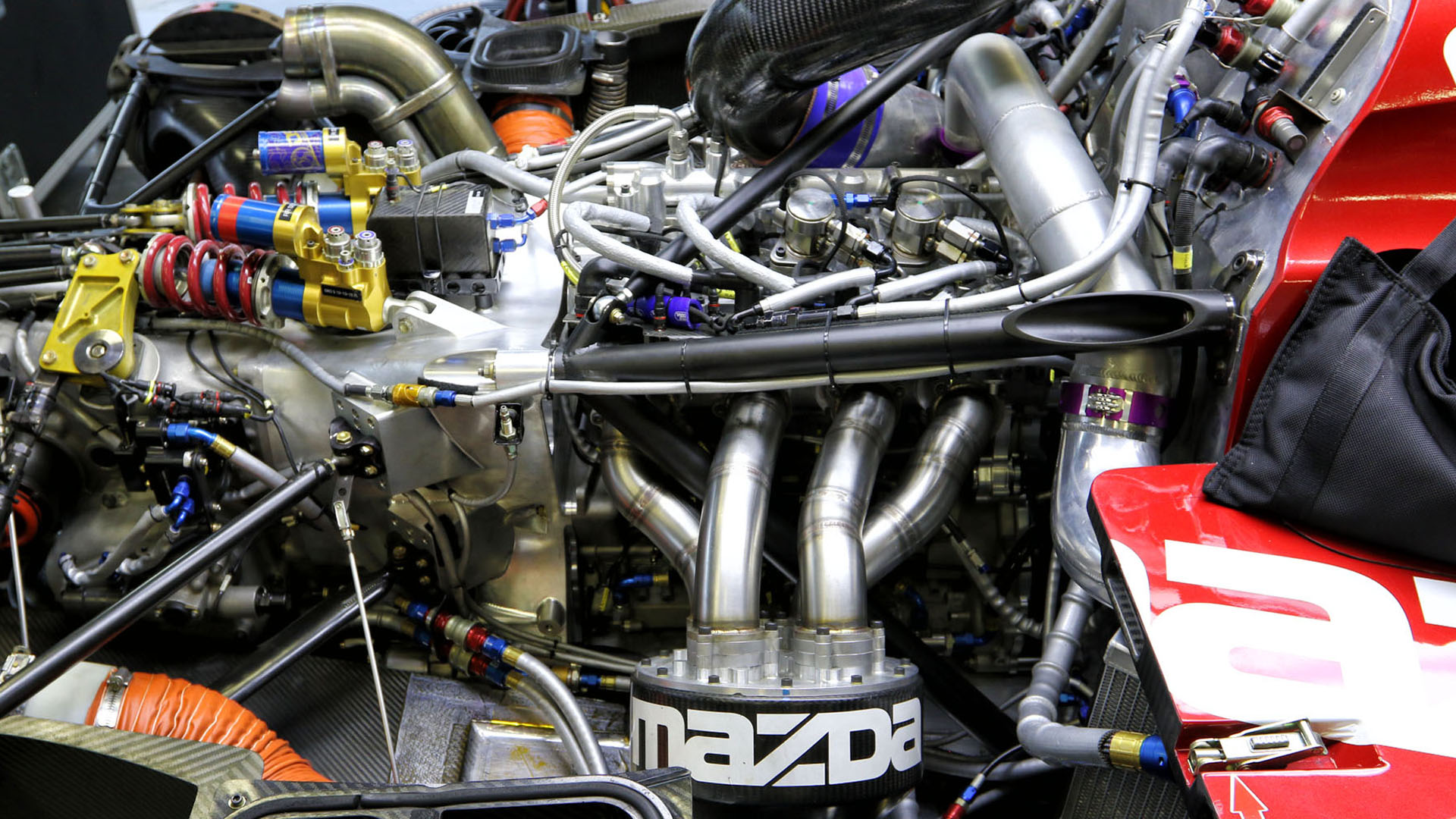 Mazda's MZ2.0-T prototype engine that will carry over to the new RT24-P Daytona Prototype international. (Image: Marshall Pruett)