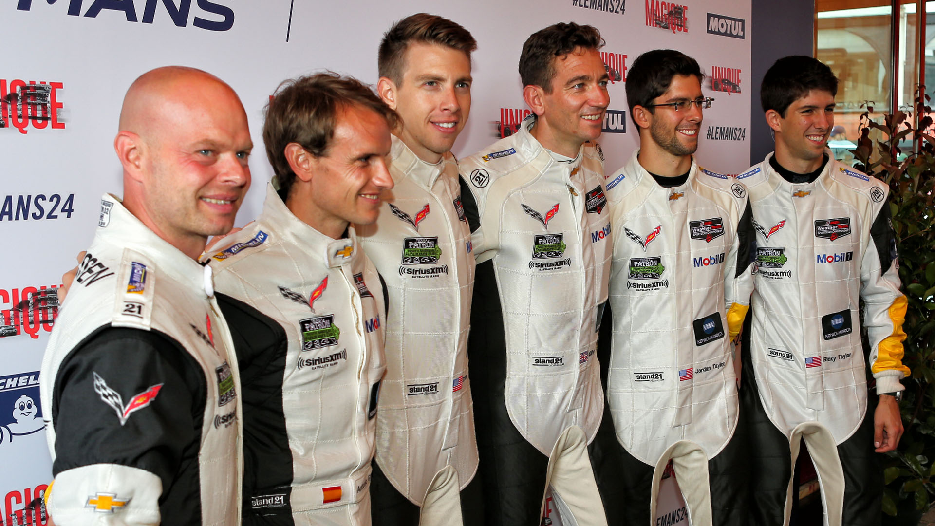 Left to right, Magnussen, Garcia, Milner and Gavin at Le Mans in 2016 with Jordan and Ricky Taylor. (Image: Marshall Pruett)