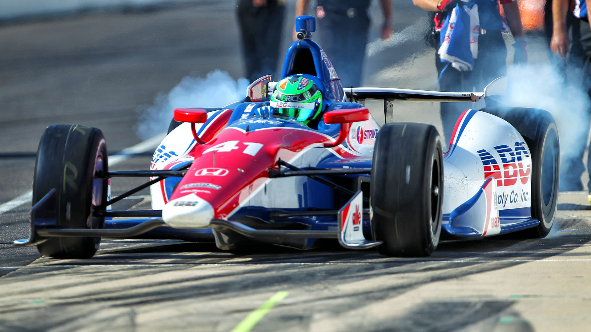 Daly on his IndyCar debut at the 2013 Indy 500 with AJ Foyt Racing. (Image: Marshall Pruett)
